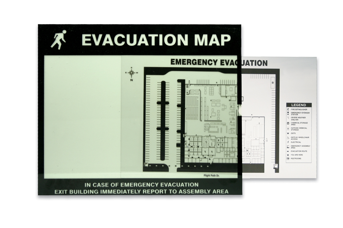 Evacuation & Severe Weather Map Holder Clear Inserts - DTA216