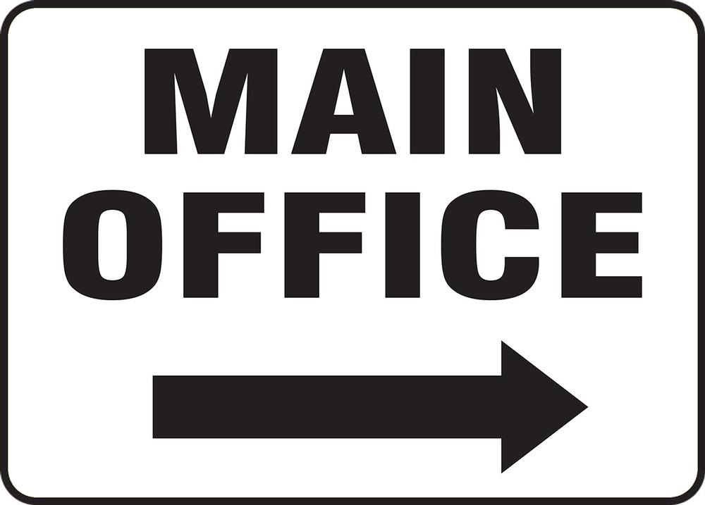 Contractor Preferred Corrugated Plastic Signs: Main Office (Right Arrow) 18