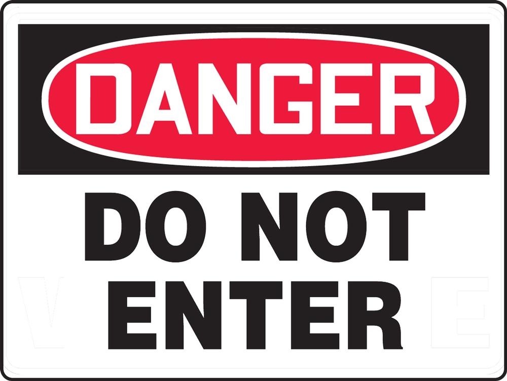 Contractor Preferred OSHA Danger Corrugated Plastic Signs: Do Not Enter 18