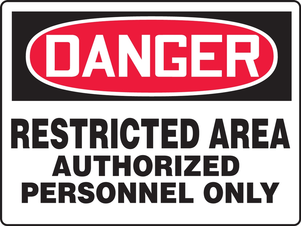 Contractor Preferred OSHA Danger Corrugated Plastic Signs: Restricted Area - Authorized Personnel Only 18