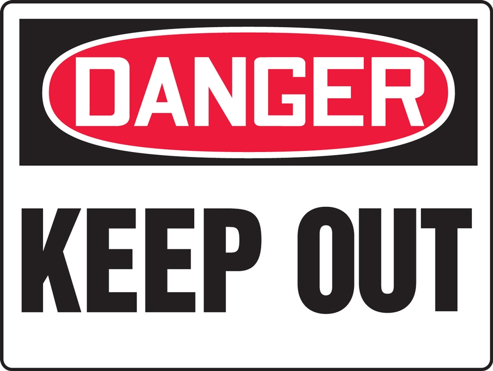 Contractor Preferred OSHA Danger Corrugated Plastic Signs: Keep Out 18