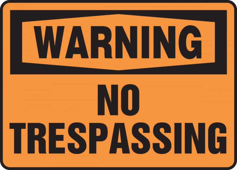 Contractor Preferred OSHA Warning Safety Sign: No Trespassing 14