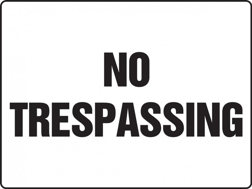 Contractor Preferred Corrugated Plastic Sign: No Trespassing 18