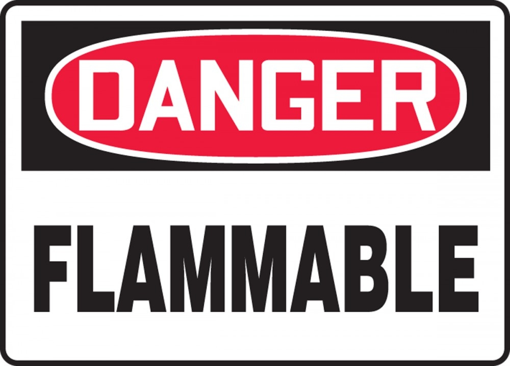 Contractor Preferred OSHA Danger Safety Sign: Flammable 10