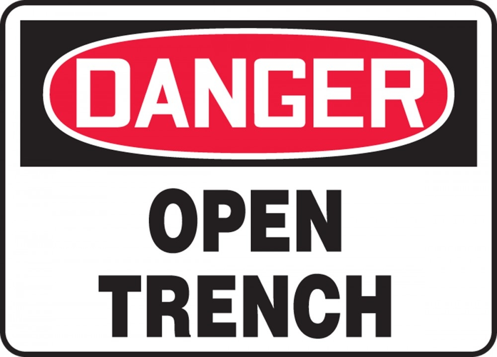Contractor Preferred OSHA Danger Safety Sign: Open Trench 10