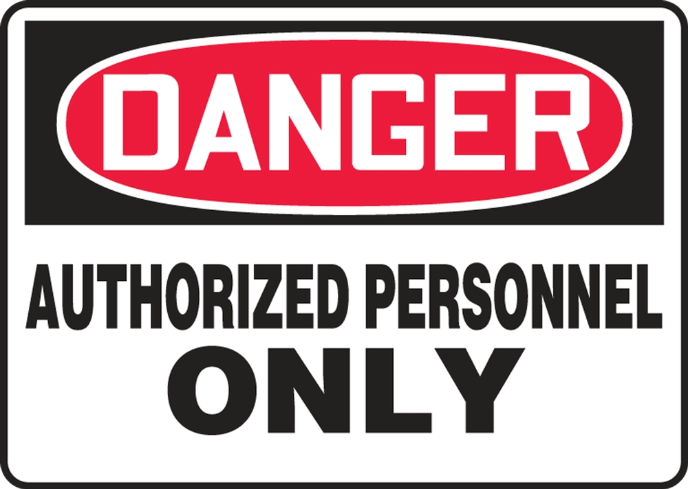 Contractor Preferred OSHA Danger Corrugated Plastic Sign: Authorized Personnel Only 18