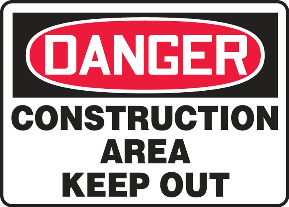 Contractor Preferred OSHA Danger Safety Sign: Construction Area - Keep Out 18