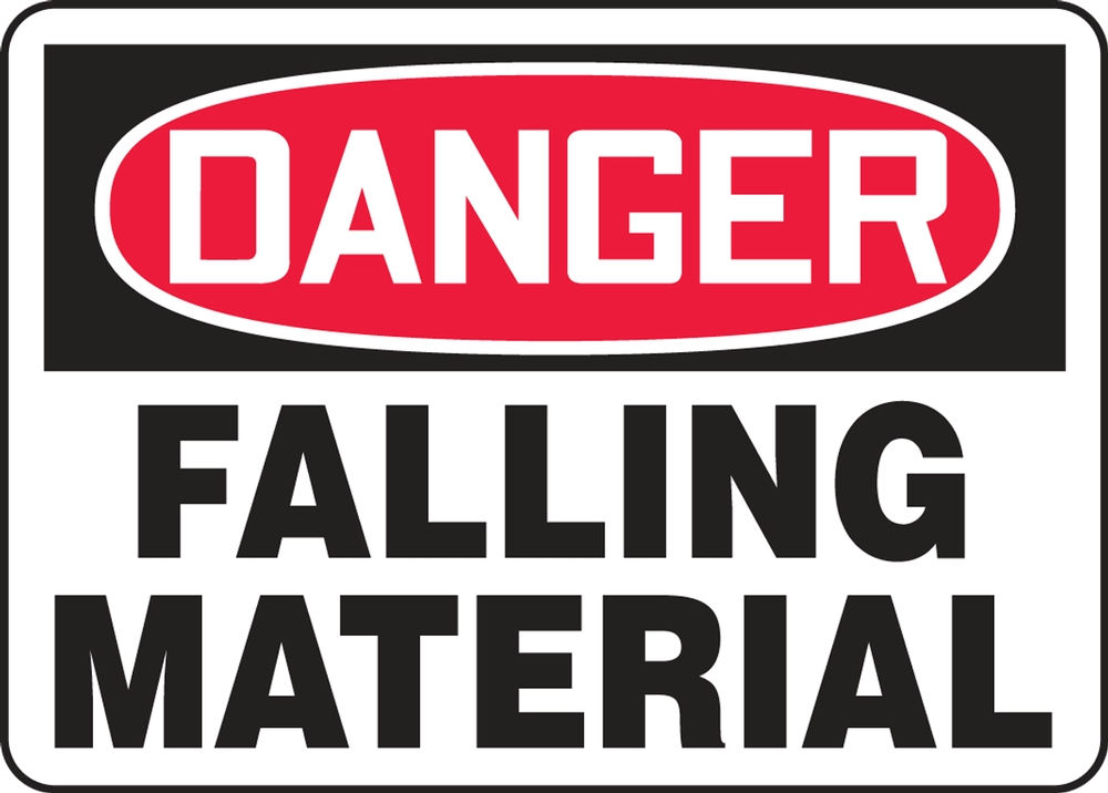 Contractor Preferred OSHA Danger Safety Sign: Falling Material 14