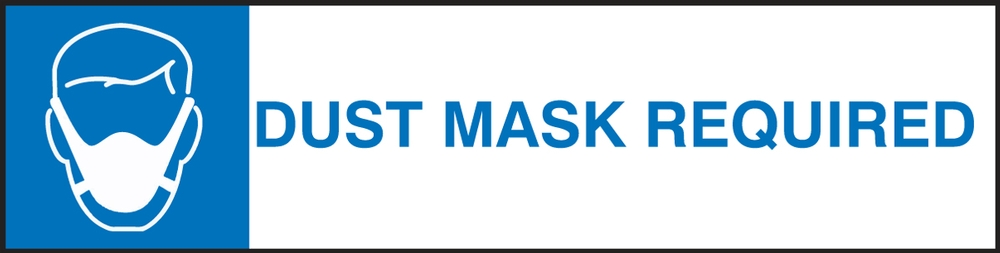 Changeable Sign System: Dust Mask Required - DTH802
