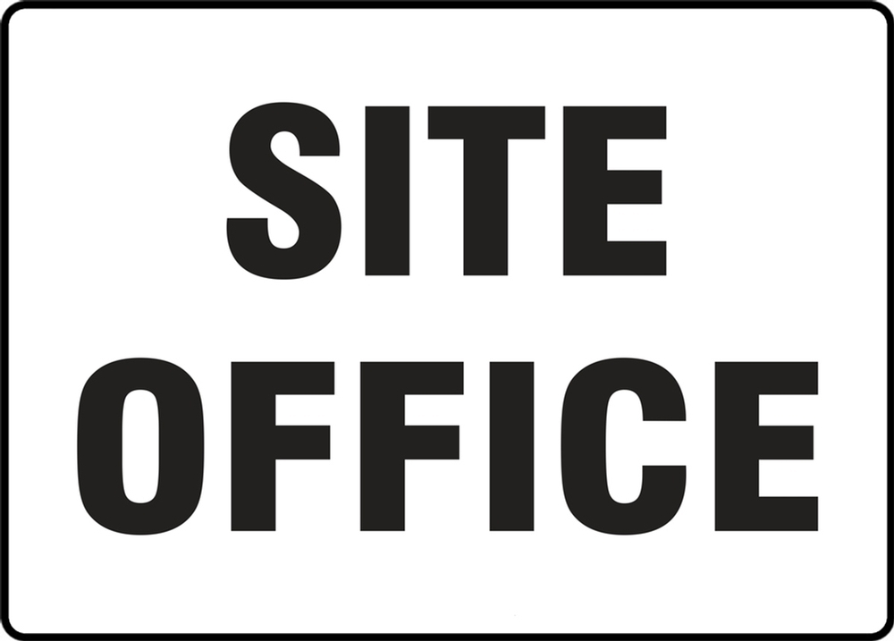 Contractor Preferred Corrugated Plastic Sign: Site Office 24